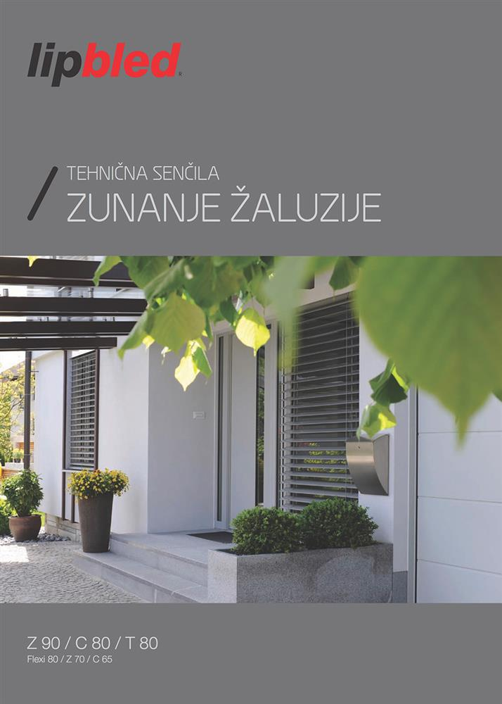 Catalogue of EXTERNAL BLINDS