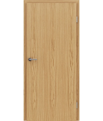 Veneered interior door with longitudinal structure GREENline – European oak naturally lacquered