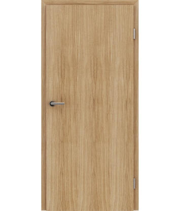 Veneered interior door with longitudinal structure GREENline – European oak brushed naturally lacquered