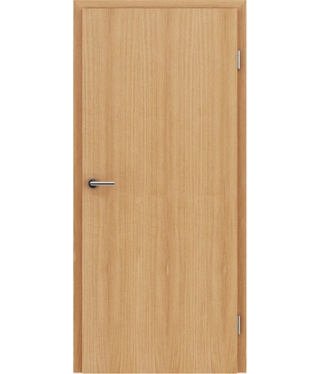 Veneered interior door with longitudinal structure GREENline – European oak oiled