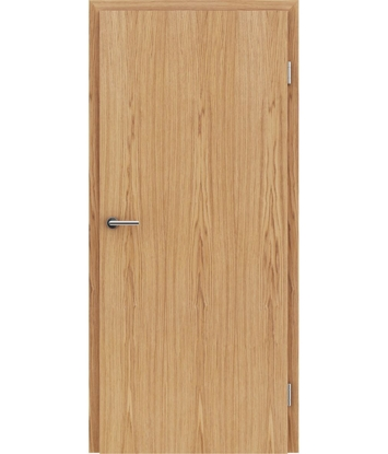 Veneered interior door with longitudinal structure GREENline – European oak brushed oiled