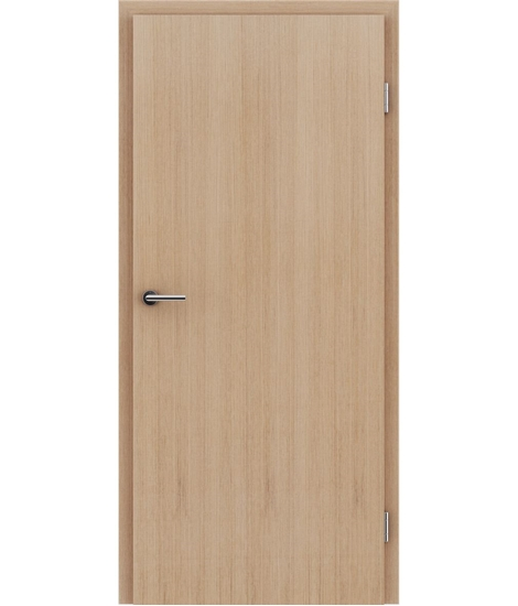 Veneered interior door with longitudinal structure GREENline – European oak white-oiled