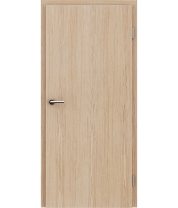 Veneered interior door with longitudinal structure GREENline – European oak brushed white-oiled