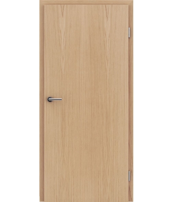 Veneered interior door with longitudinal structure GREENline – European oak matt stained lacquered