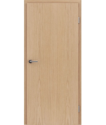 Veneered interior door with longitudinal structure GREENline – European oak brushed matt stained lacquered