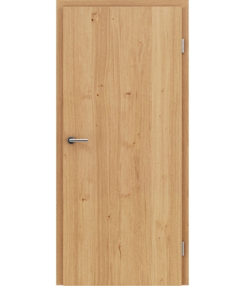 Veneered interior door with longitudinal structure GREENline – Oak knotty naturally lacquered