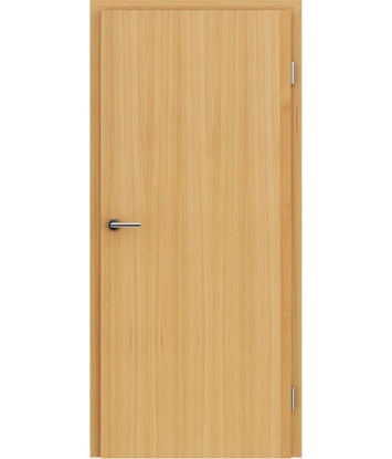 Veneered interior door with longitudinal structure GREENline – Larch brushed naturally lacquered