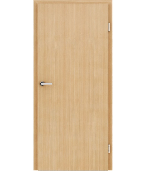 Veneered interior door with longitudinal structure GREENline – Larch brushed matt stained lacquered