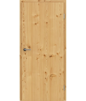 Veneered interior door with longitudinal structure GREENline – Larch knotty brushed naturally lacquered