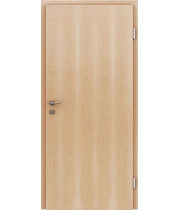 Veneered interior door with longitudinal structure GREENline – Maple