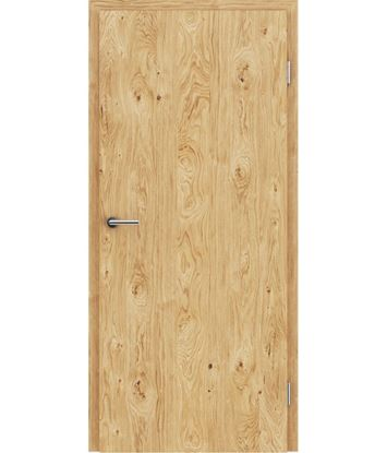 Veneered interior door with longitudinal structure GREENline – Oak knotty brushed oiled