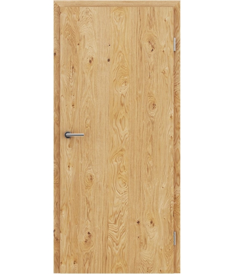 Veneered interior door with longitudinal structure GREENline – Oak knotty oiled