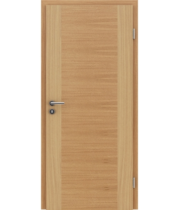 Veneered interior door with a combination of a transverse and longitudinal structure VIVCEline – F1 European oak naturally lacquered