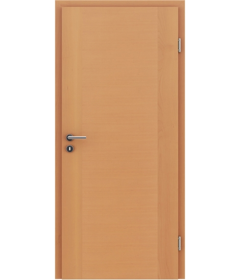 Veneered interior door with a combination of a transverse and longitudinal structure VIVCEline – F1 Beech lacquered