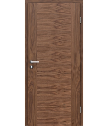 Veneered interior door with a combination of a transverse and longitudinal structure VIVCEline – F1 walnut
