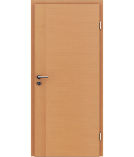 Veneered interior door with a combination of a transverse and longitudinal structure VIVCEline – F3 Beech