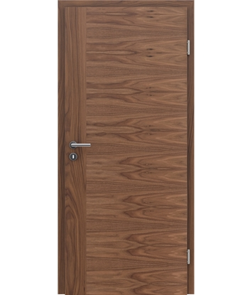 Veneered interior door with a combination of a transverse and longitudinal structure VIVCEline – F3 walnut