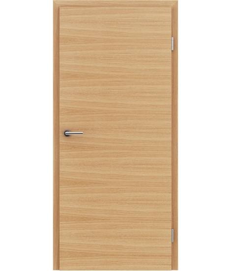 Veneered interior door with a combination of a transverse and longitudinal structure VIVCEline – F4 European oak naturally lacquered
