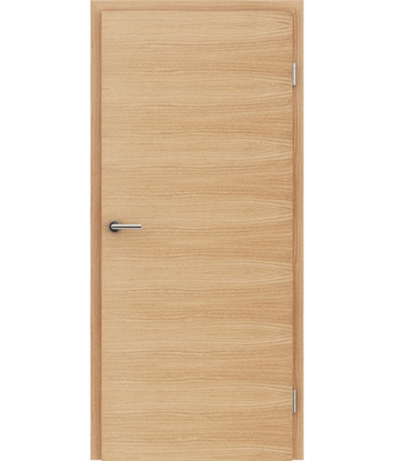 Veneered interior door with a combination of a transverse and longitudinal structure VIVCEline – F4 European oak brushed naturally lacquered