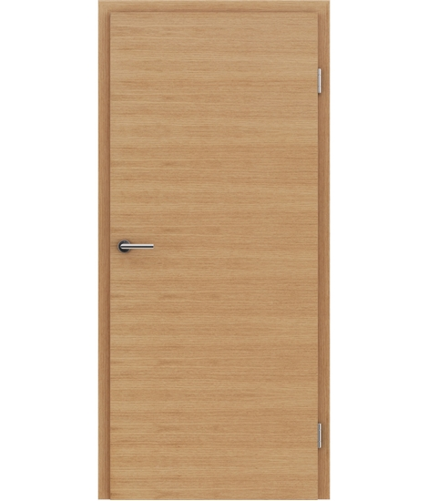 Veneered interior door with a combination of a transverse and longitudinal structure VIVCEline – F4 European oak oiled
