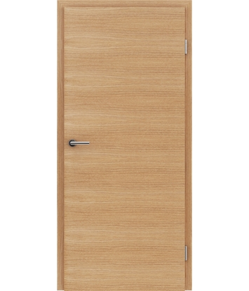 Veneered interior door with a combination of a transverse and longitudinal structure VIVCEline – F4 European oak brushed oiled