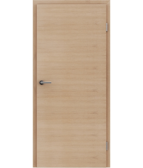 Veneered interior door with a combination of a transverse and longitudinal structure VIVCEline – F4 European oak white-oiled