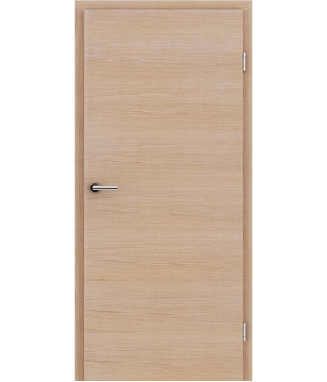 Veneered interior door with a combination of a transverse and longitudinal structure VIVCEline – F4 European oak brushed white-oiled