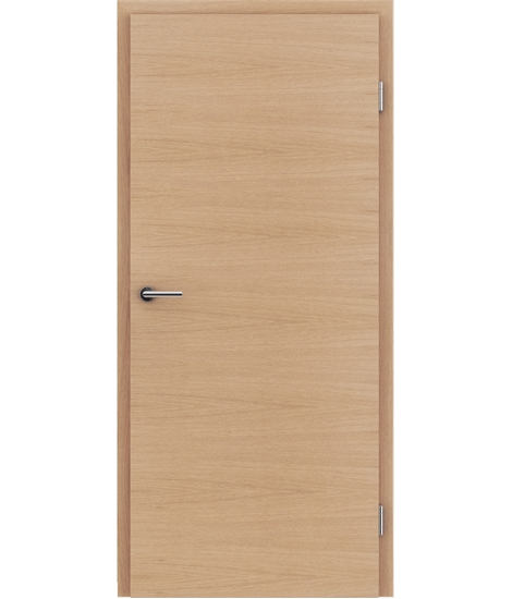 Veneered interior door with a combination of a transverse and longitudinal structure VIVCEline – F4 European oak matt stained lacquered