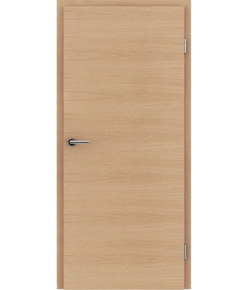 Veneered interior door with a combination of a transverse and longitudinal structure VIVCEline – F4 European oak brushed matt stained lacquered