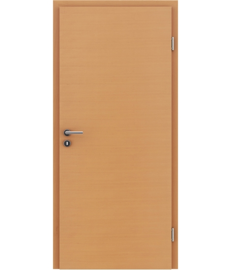 Veneered interior door with a combination of a transverse and longitudinal structure VIVCEline – F4 Beech