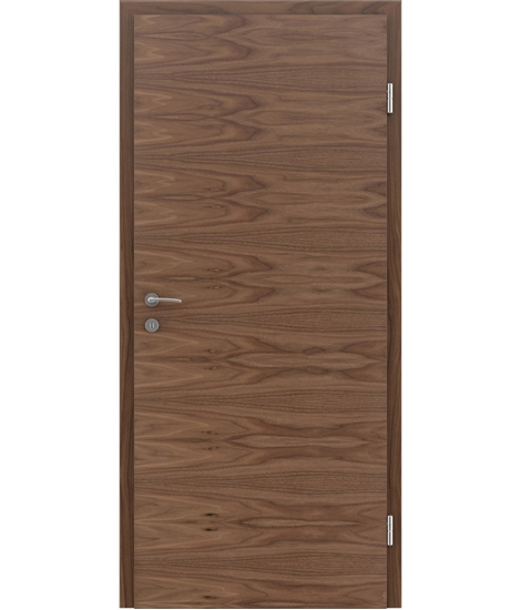 Veneered interior door with a combination of a transverse and longitudinal structure VIVCEline – F4 walnut