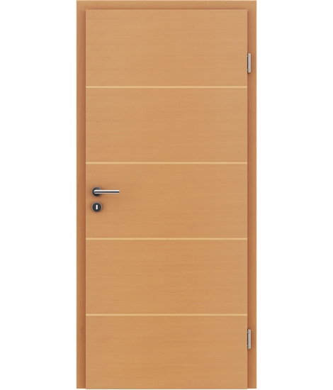 Veneered interior door with a combination of a transverse and longitudinal structure VIVCEline – F11 Beech, strip Maple