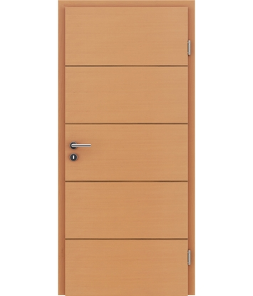 Veneered interior door with a combination of a transverse and longitudinal structure VIVCEline – F11 Beech, strip walnut