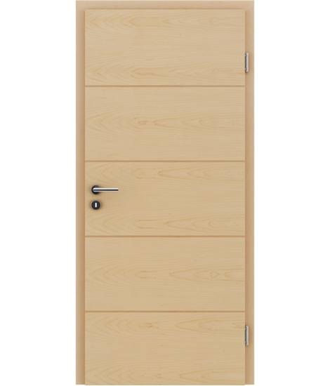 Veneered interior door with a combination of a transverse and longitudinal structure VIVCEline – F11 Maple, strip Beech