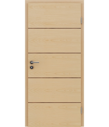 Veneered interior door with a combination of a transverse and longitudinal structure VIVCEline – F11 Maple, strip walnut