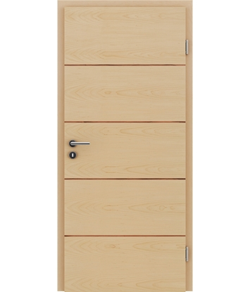 Veneered interior door with a combination of a transverse and longitudinal structure VIVCEline – F11 Maple, strip Indian apple