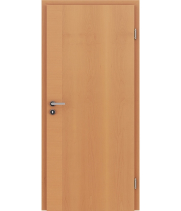 Veneered interior door with a combination of a transverse and longitudinal structure VIVCEline – F12 Beech
