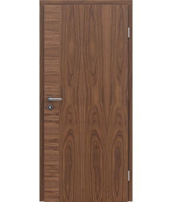 Veneered interior door with a combination of a transverse and longitudinal structure VIVCEline – F12 walnut