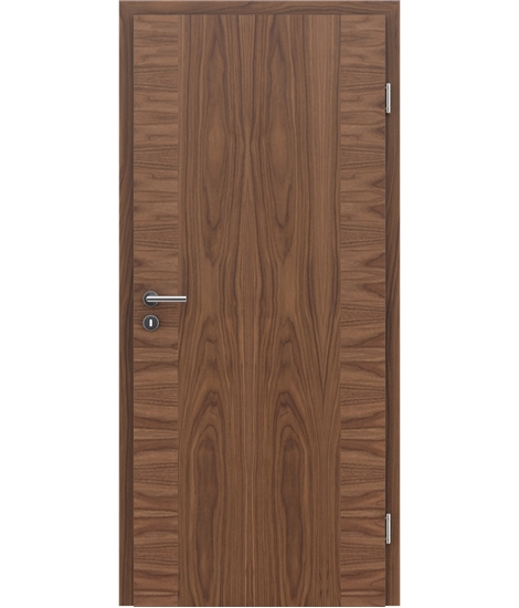 Veneered interior door with a combination of a transverse and longitudinal structure VIVCEline – F14 walnut