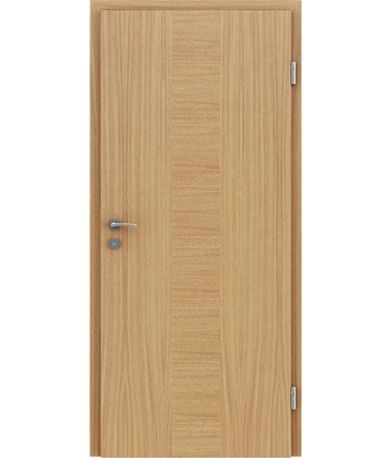Veneered interior door with a combination of a transverse and longitudinal structure VIVCEline – F40 oak, strip oak