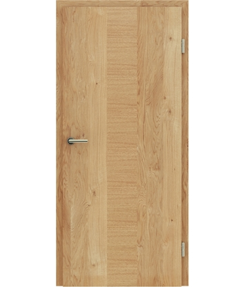 Veneered interior door with a combination of a transverse and longitudinal structure VIVCEline – F40 oak knotty, strip oak