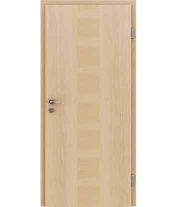 Veneered interior door with a combination of a transverse and longitudinal structure VIVCEline – F40 Maple, strip Maple
