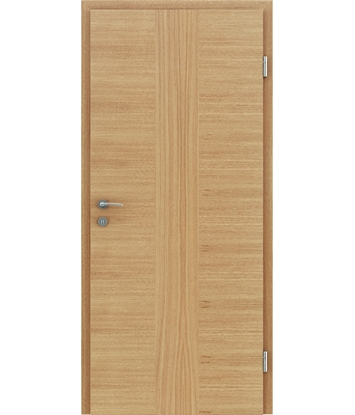 Veneered interior door with a combination of a transverse and longitudinal structure VIVCEline – F41 oak, strip oak