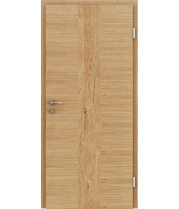 Veneered interior door with a combination of a transverse and longitudinal structure VIVCEline – F41 oak, strip oak knotty