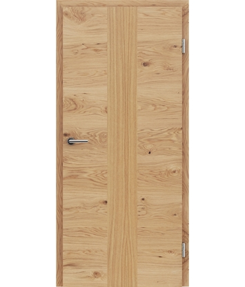 Veneered interior door with a combination of a transverse and longitudinal structure VIVCEline – F41 oak knotty, strip oak