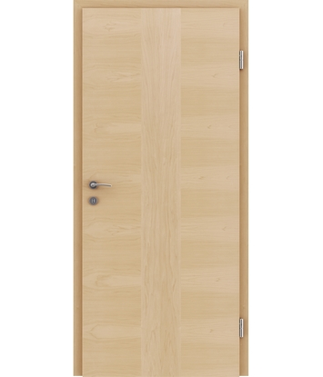 Veneered interior door with a combination of a transverse and longitudinal structure VIVCEline – F41 Maple, strip Maple
