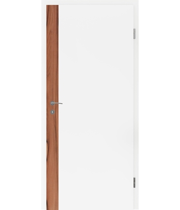 White-lacquered interior door BELLAline – F5R33L white-lacquered, Indian apple strip