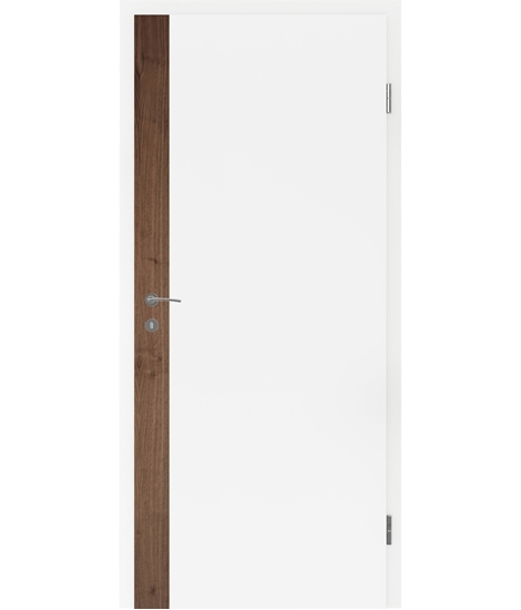 White-lacquered interior door BELLAline – F5R33L white-lacquered, oak strip
