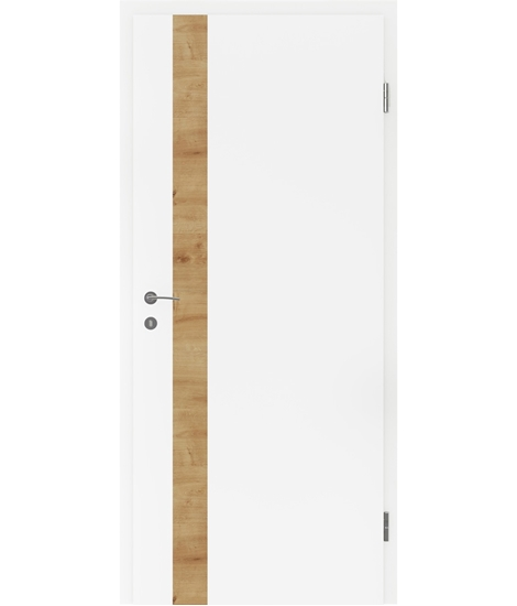 White-lacquered interior door BELLAline – LN1 white-lacquered, L1 oak knotty strip
