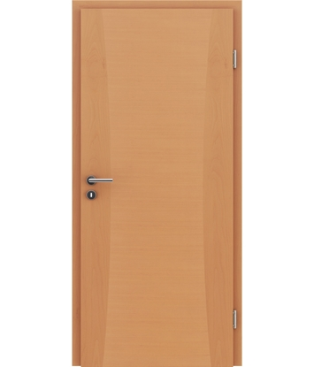 Veneered interior door with intarsia strips HIGHline – I13 Beech